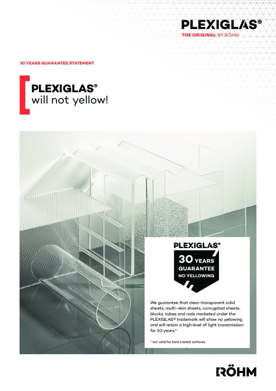 111 31 PLEXIGLAS 30 years guarantee statement en pdf - Technical Library