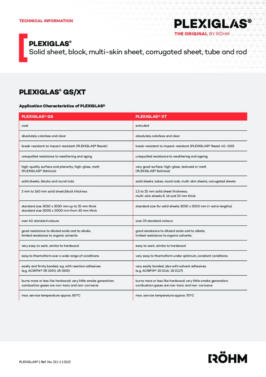 211 1 PLEXIGLAS GS XT EN pdf - Technical Library