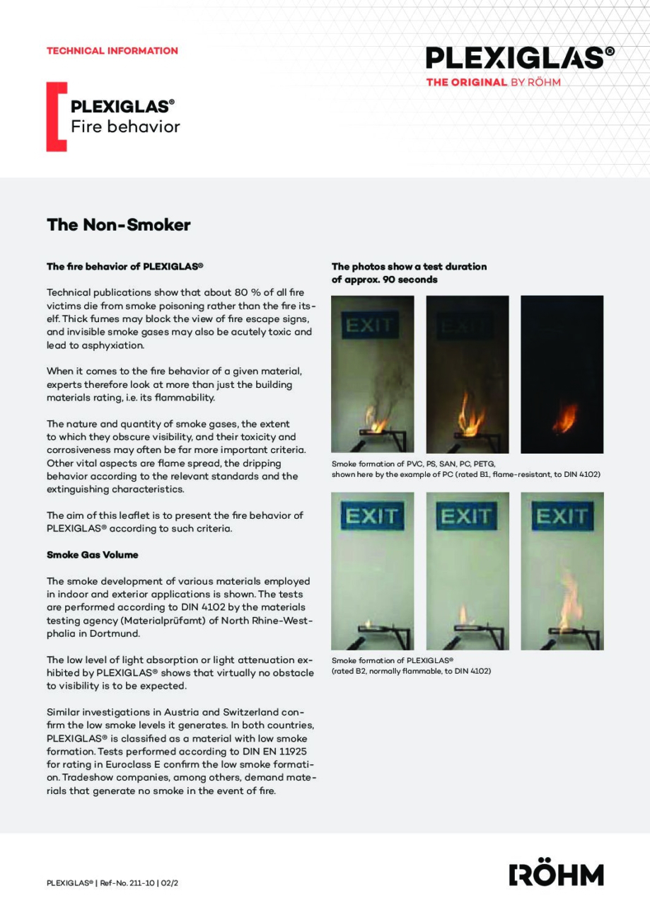 211 10 EN fire behavior PLEXIGLAS pdf - Technical Library