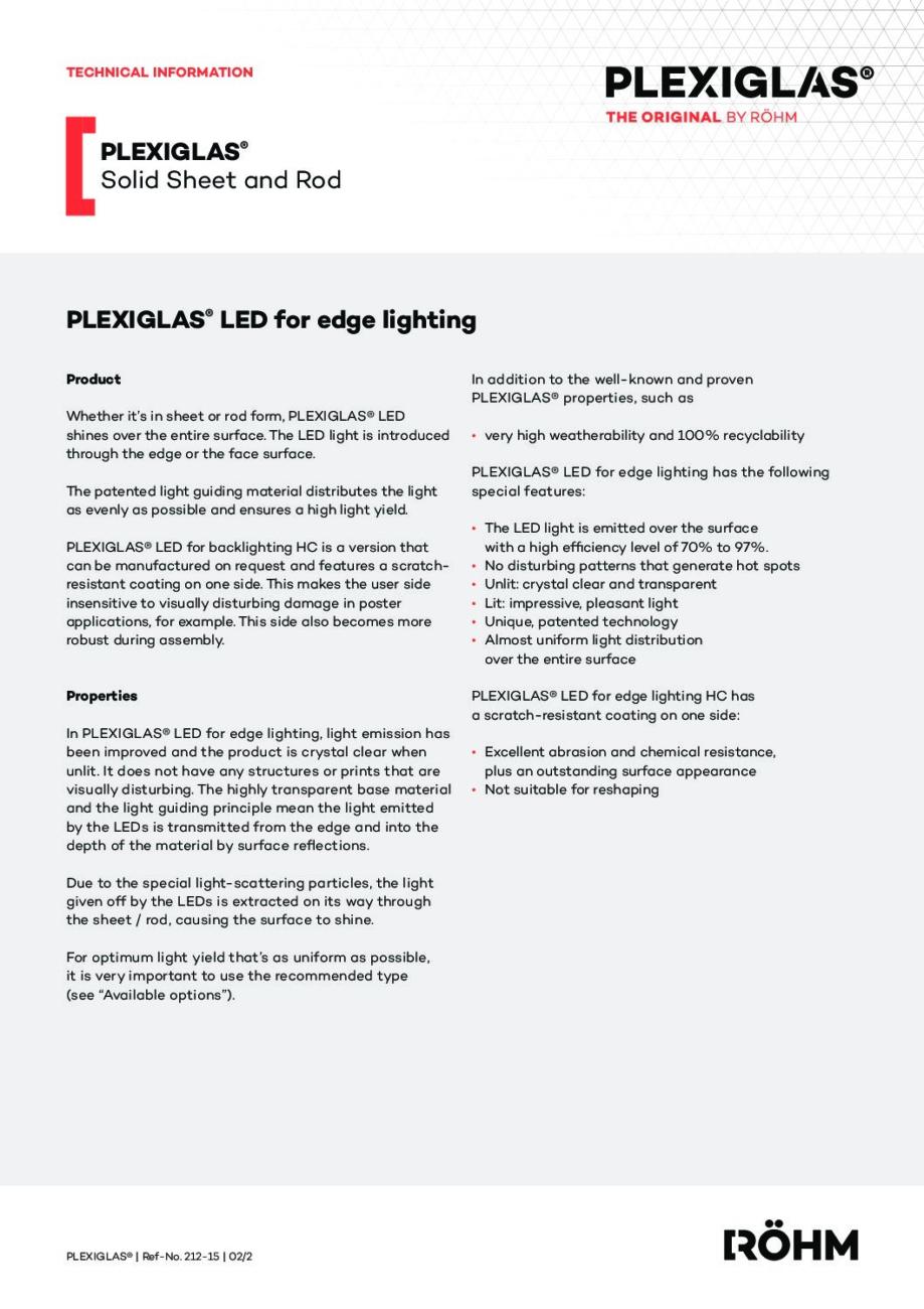 212 15 PLEXIGLAS LED for edge lighting pdf - Technical Library