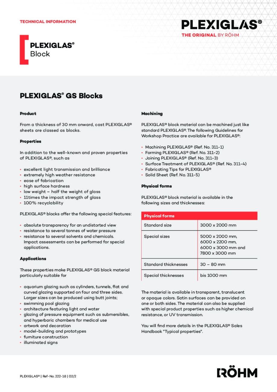 222 18 PLEXIGLAS GS Blocks EN pdf - Technical Library