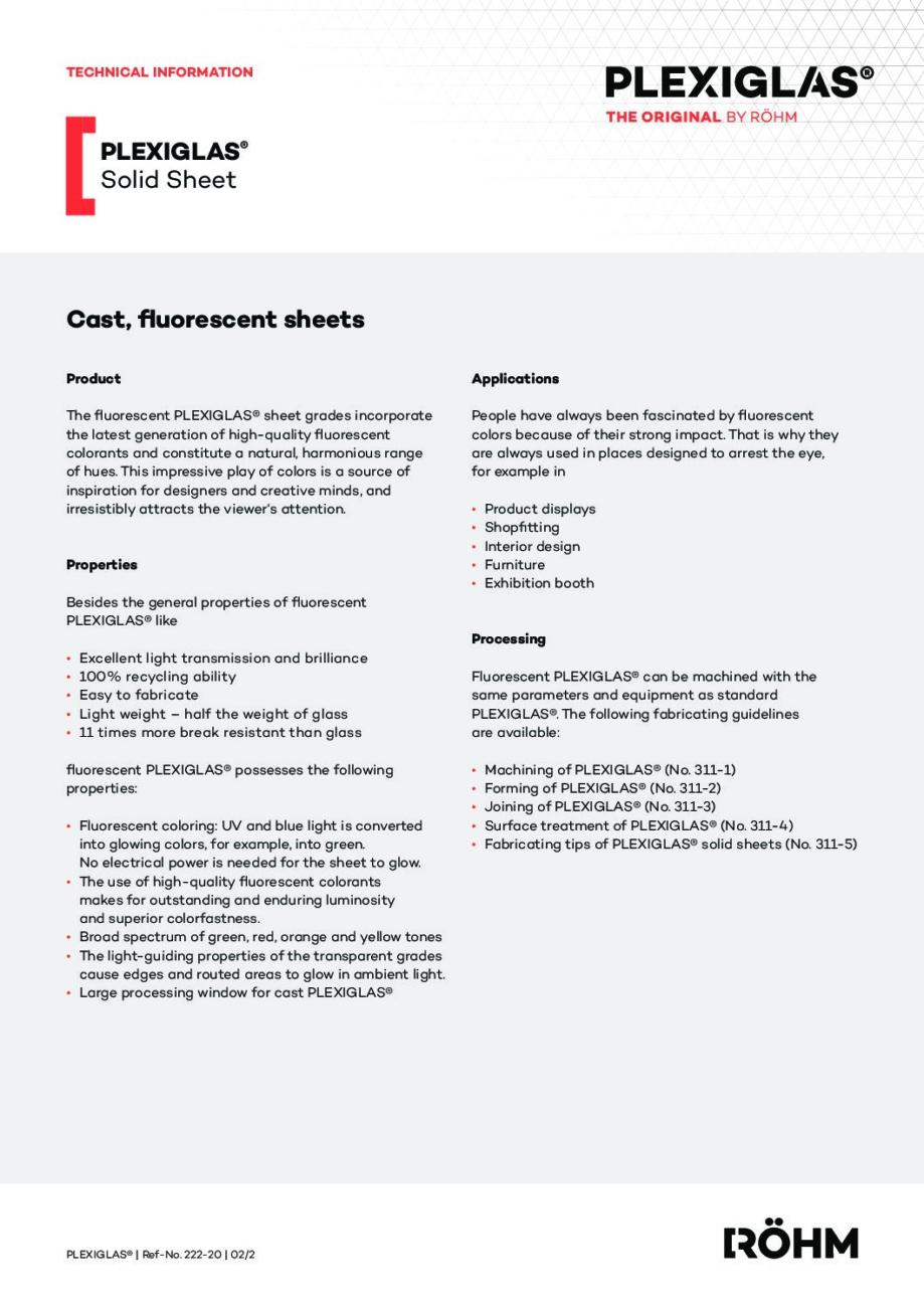 222 20 PLEXIGLAS fluorescent pdf - Technical Library
