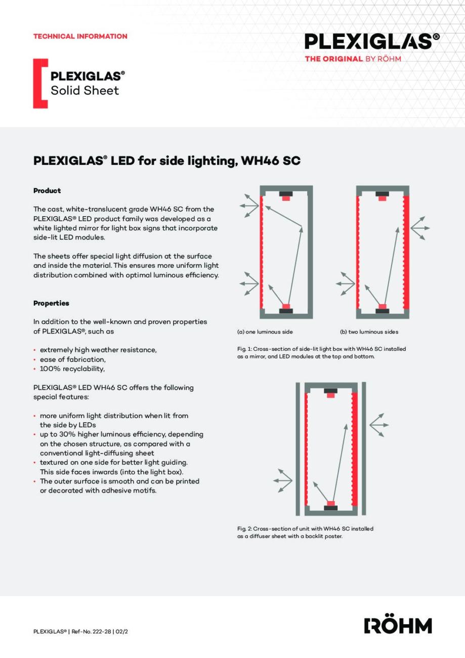 222 28 PLEXIGLAS LED for side lighting WH46 SC pdf - Technical Library