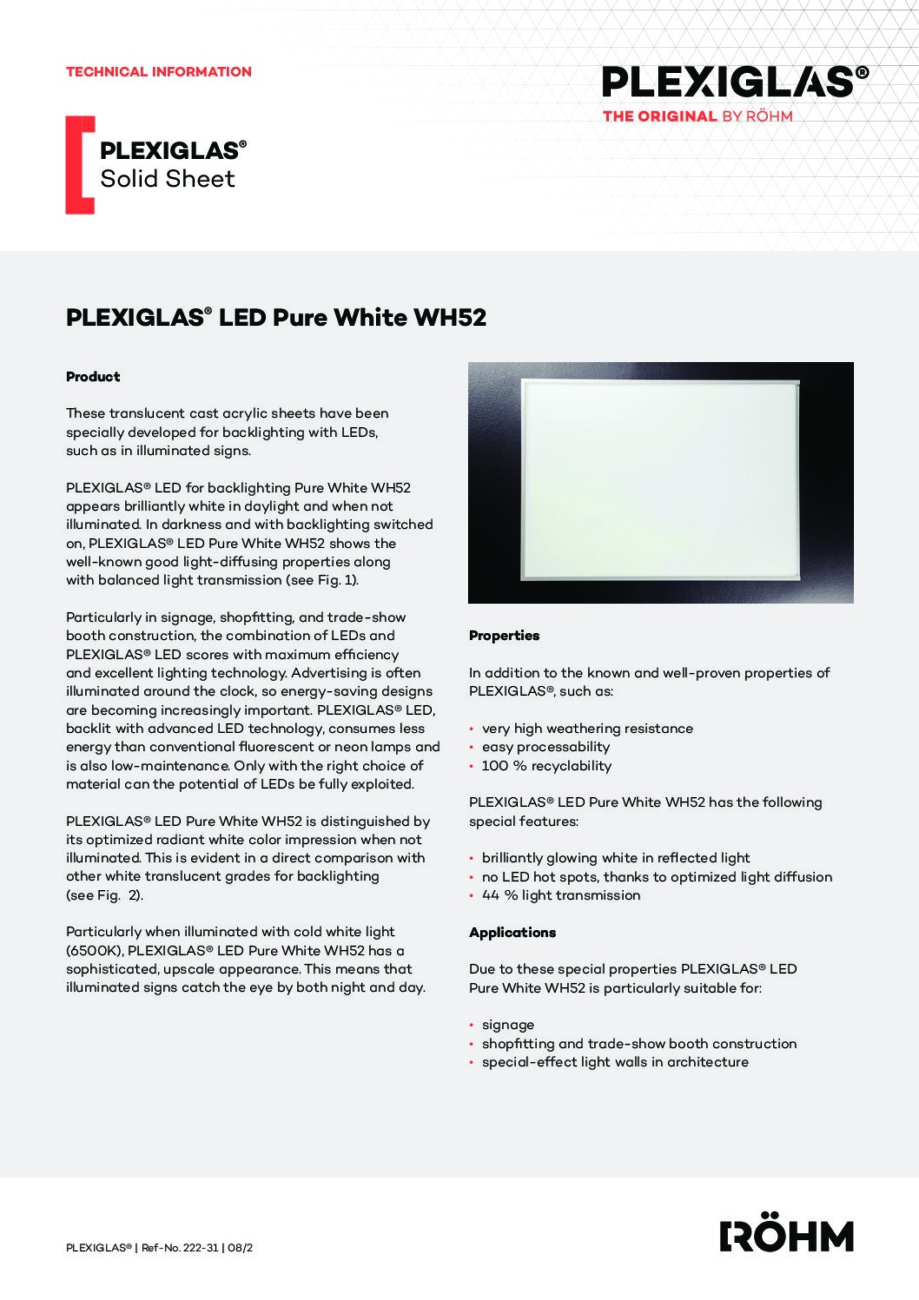 222 31 EN PLEXIGLAS LED Pure White WH52 pdf - Technical Library