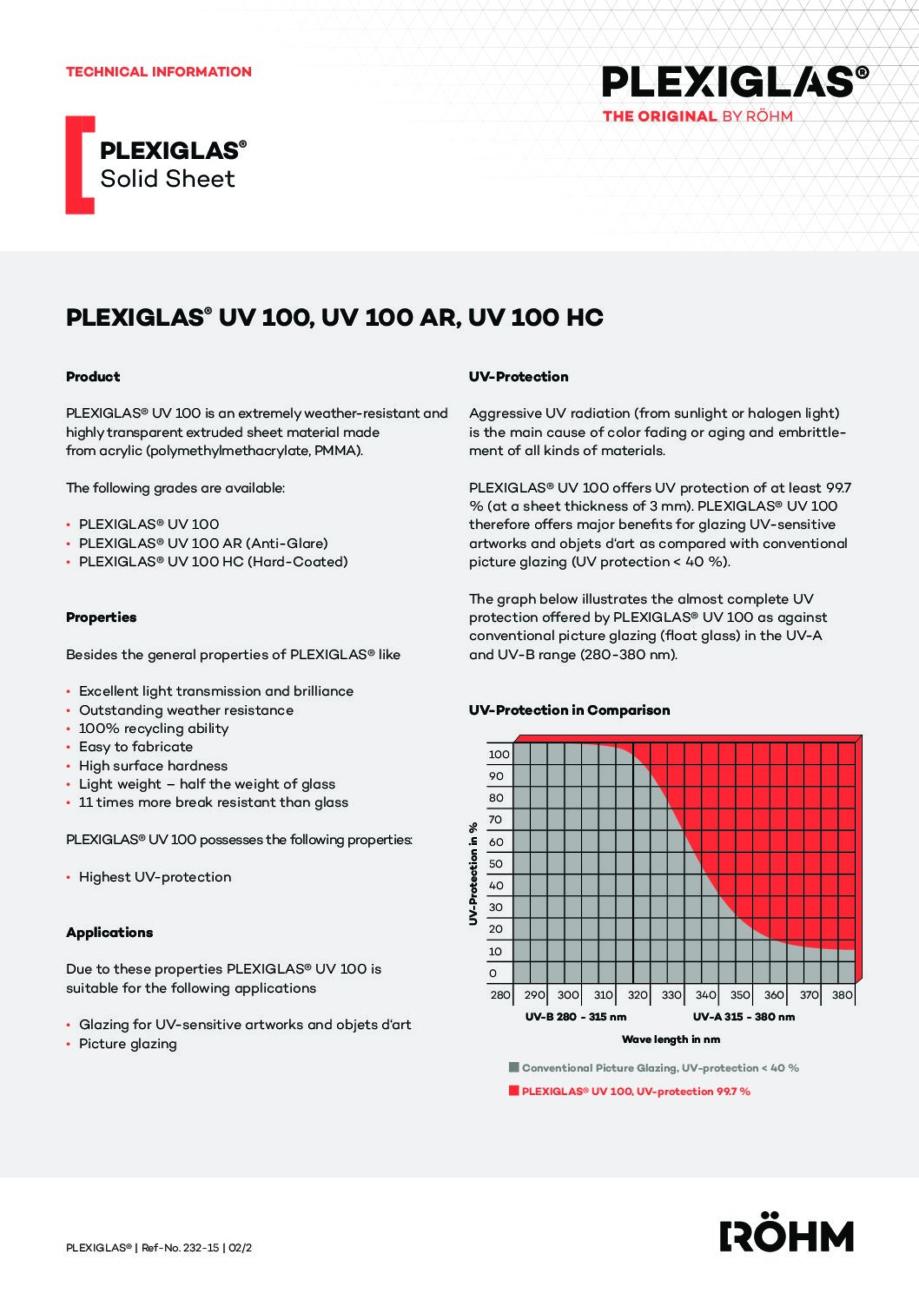 232 15 PLEXIGLAS UV 100 EN pdf - Technical Library