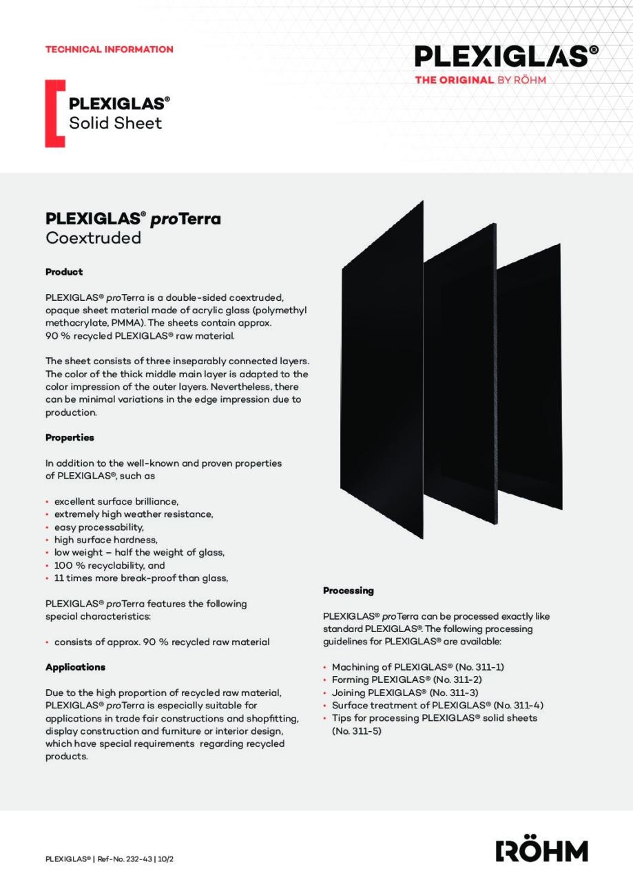 232 43 PLEXIGLAS proTerra en pdf - Technical Library